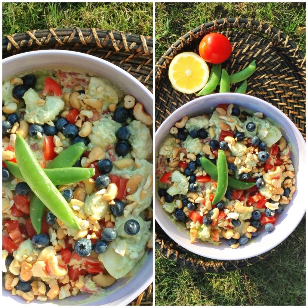 Guacamole i en salat