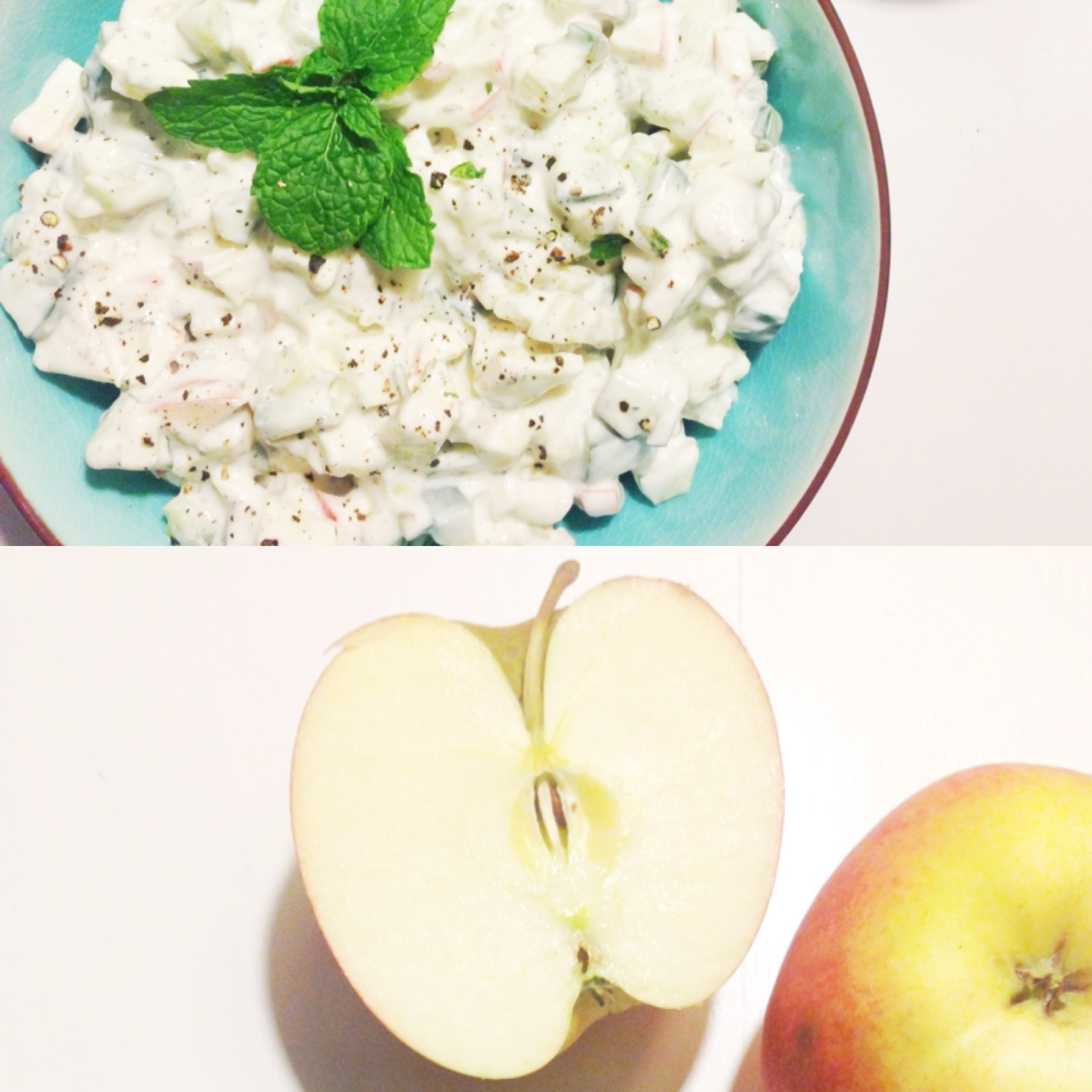 Raita med æbler opskrift
