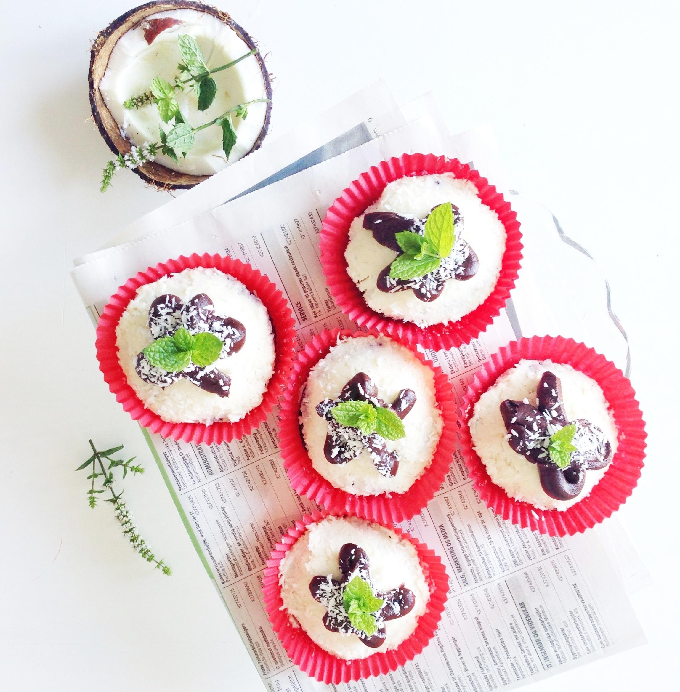 muffins opskrift med chokolade og kokos som en bounty bar
