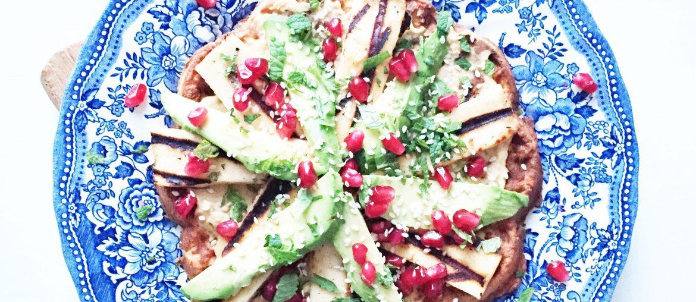 madvafler med hummus, avokado ligesom på Mahalle, Nørrebro