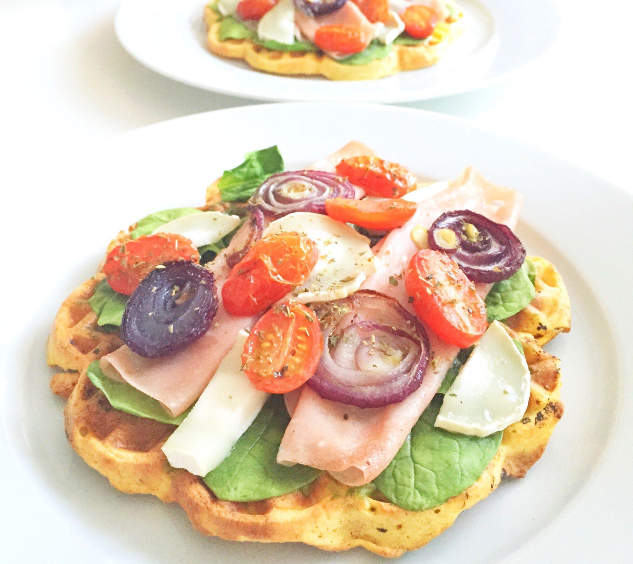 Opskrift på vaffelpizza