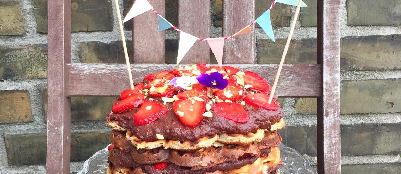 Opskrift på snickers VAFFEL-lagkage | Sukkerfri og glutenfri!