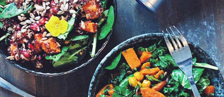 Salater på Feel Good Café