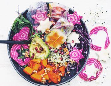 Opskrifter på bowls. Rainbow bowls
