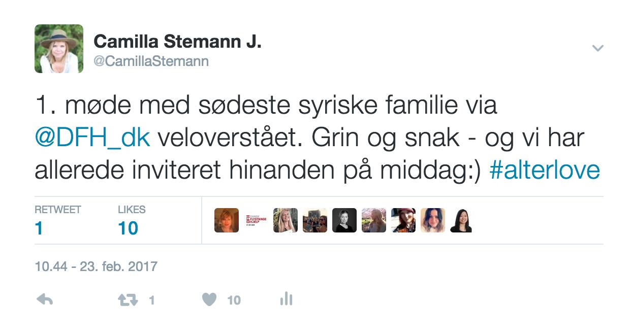 Stolt status på Twitter. Find mig under @camillastemann