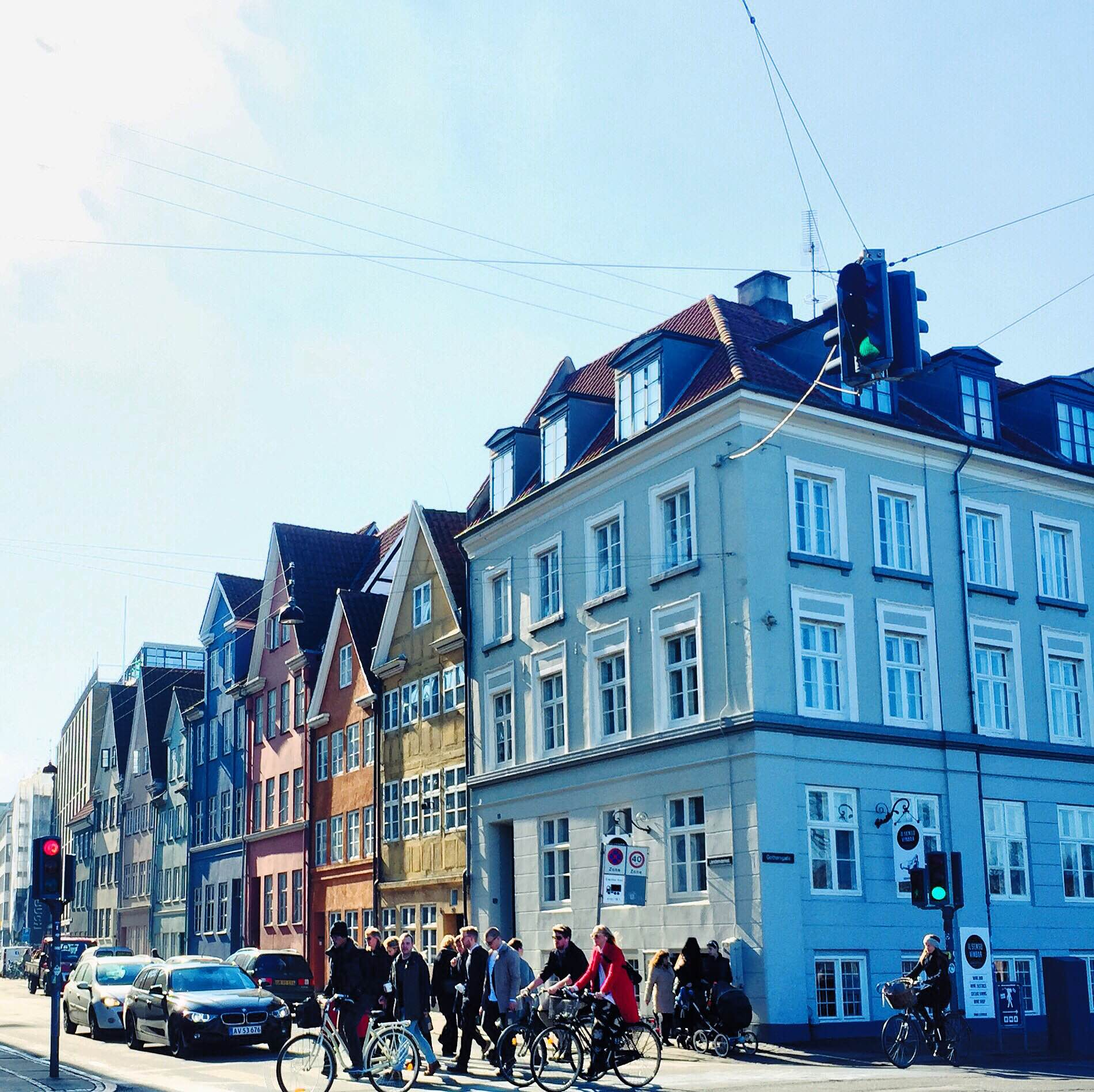 Colorful houses of Copenhagen. Landemærket