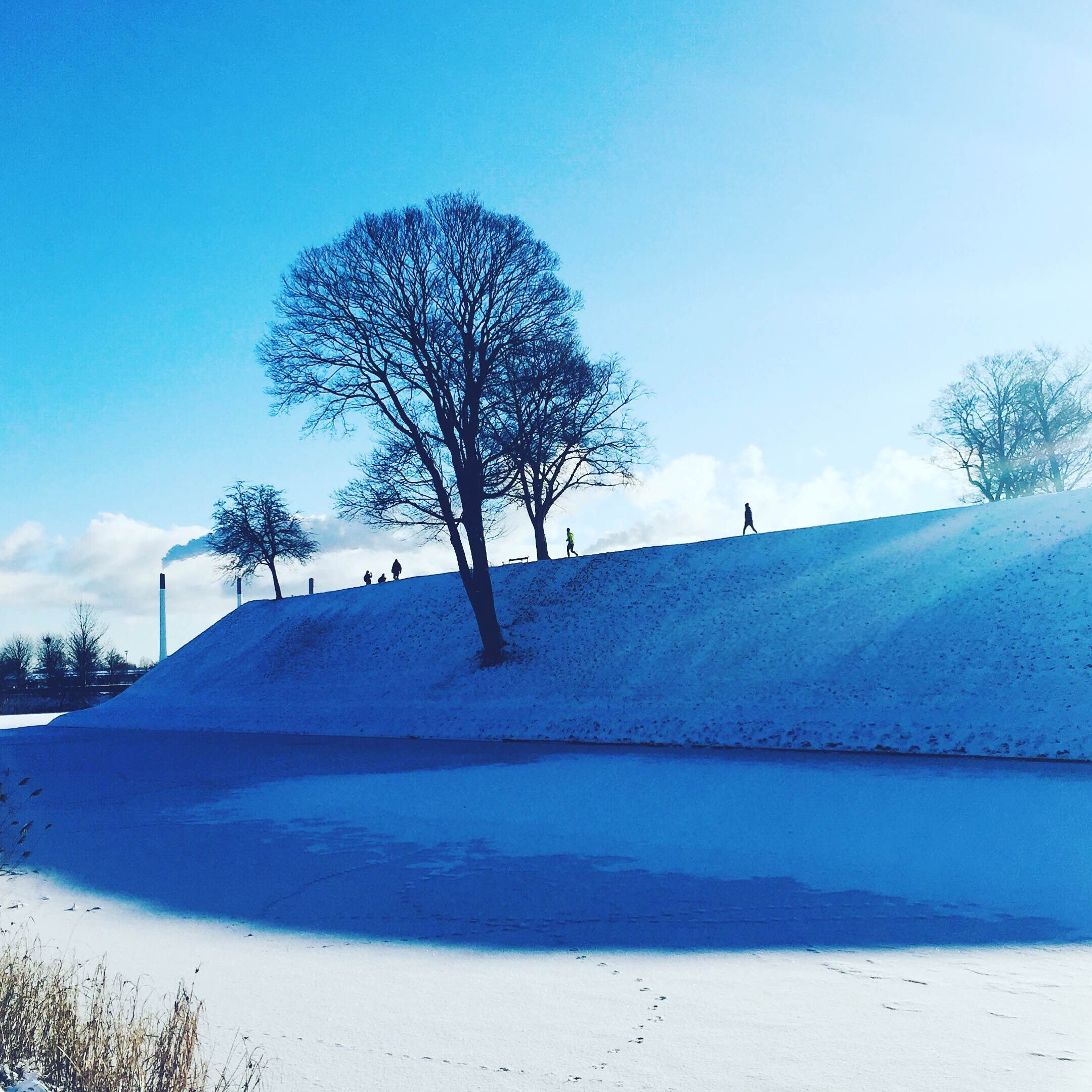 Snow at Kastellet, Copenhagen