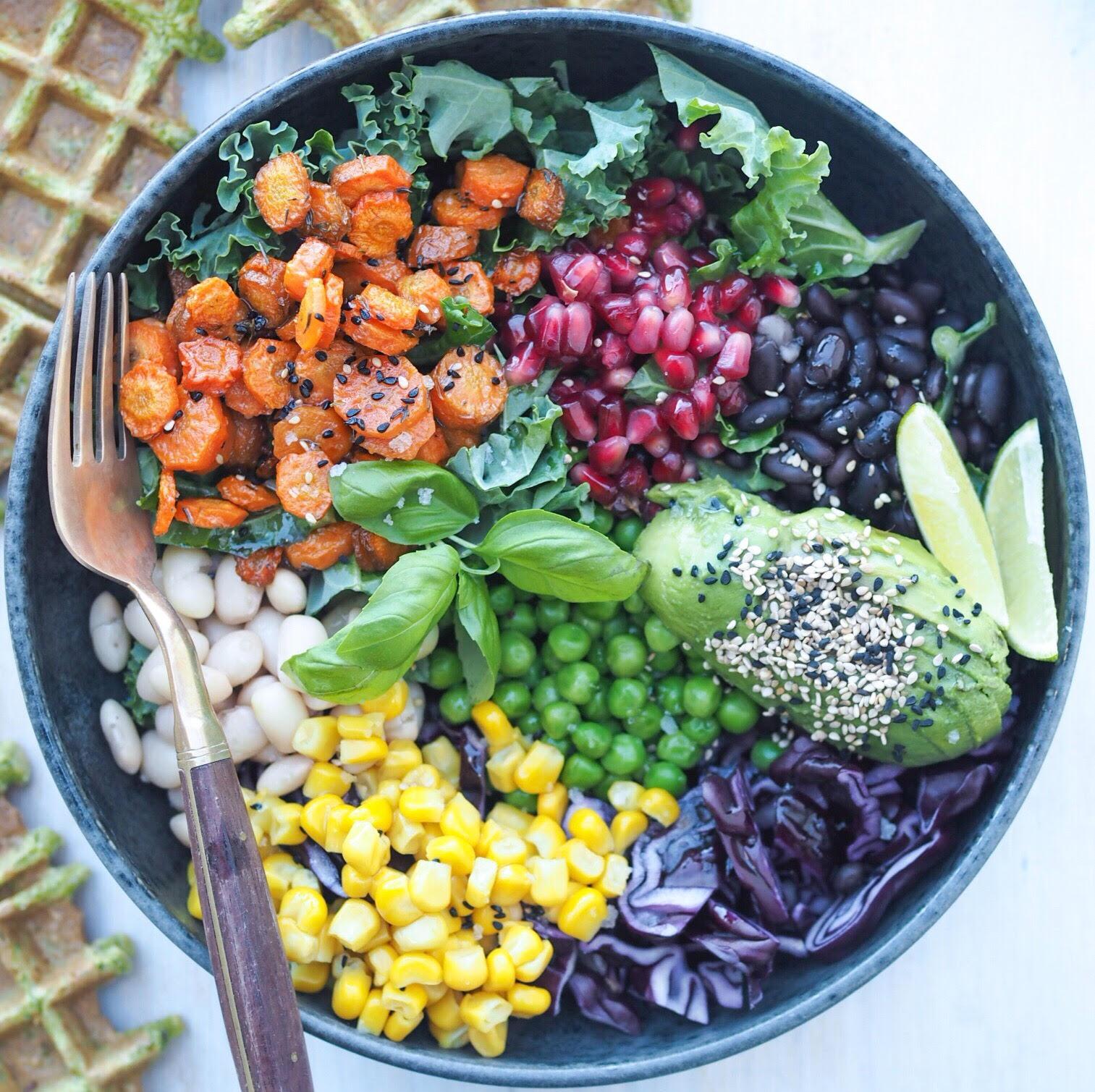 Sunde salater, glutenfri skåle også kaldet bowls som årets madtrend 2017