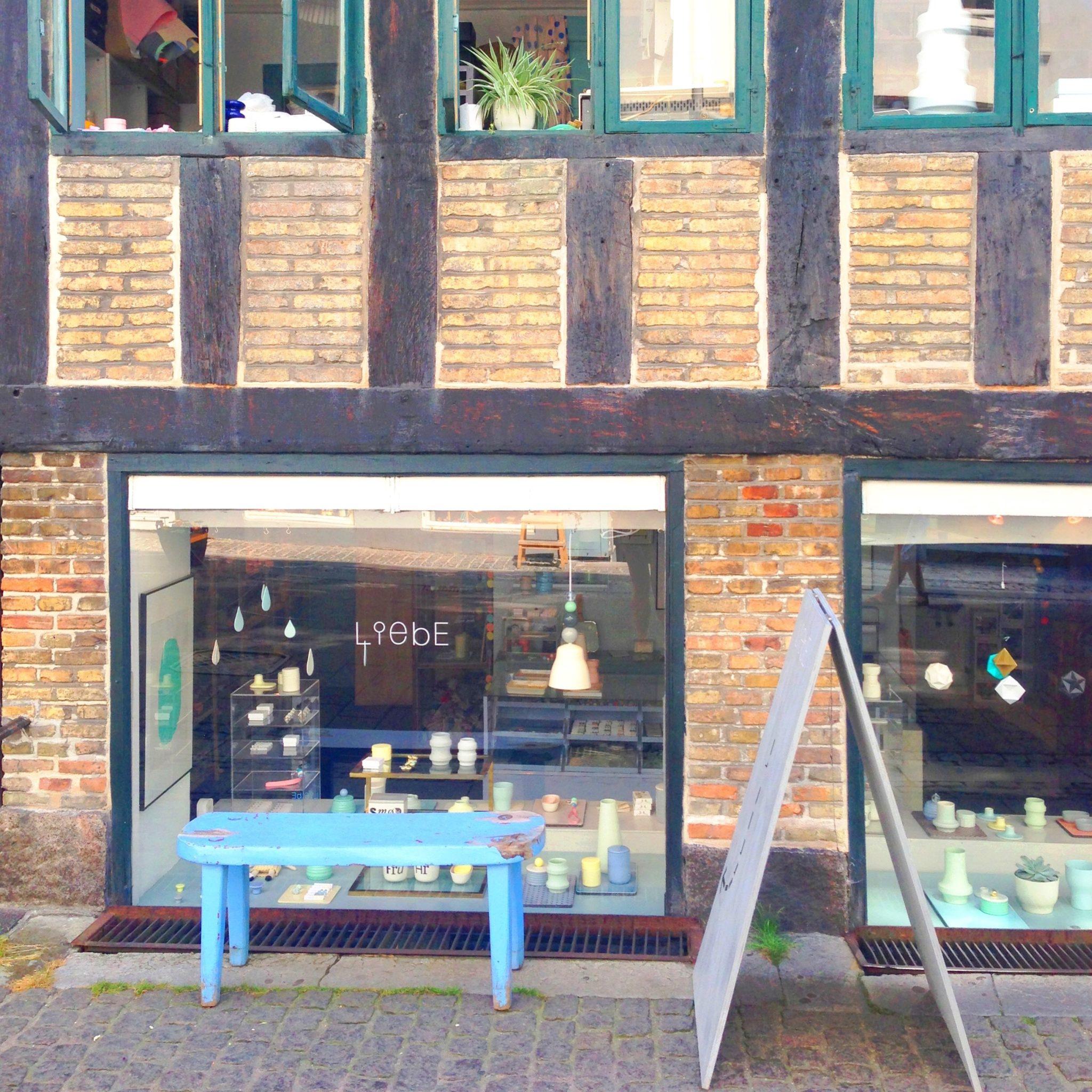 Liebe Copenhagen. Porcelæn og dansk design keramik. Flot facade.