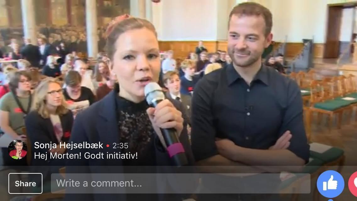 Reporter på Christiansborg.