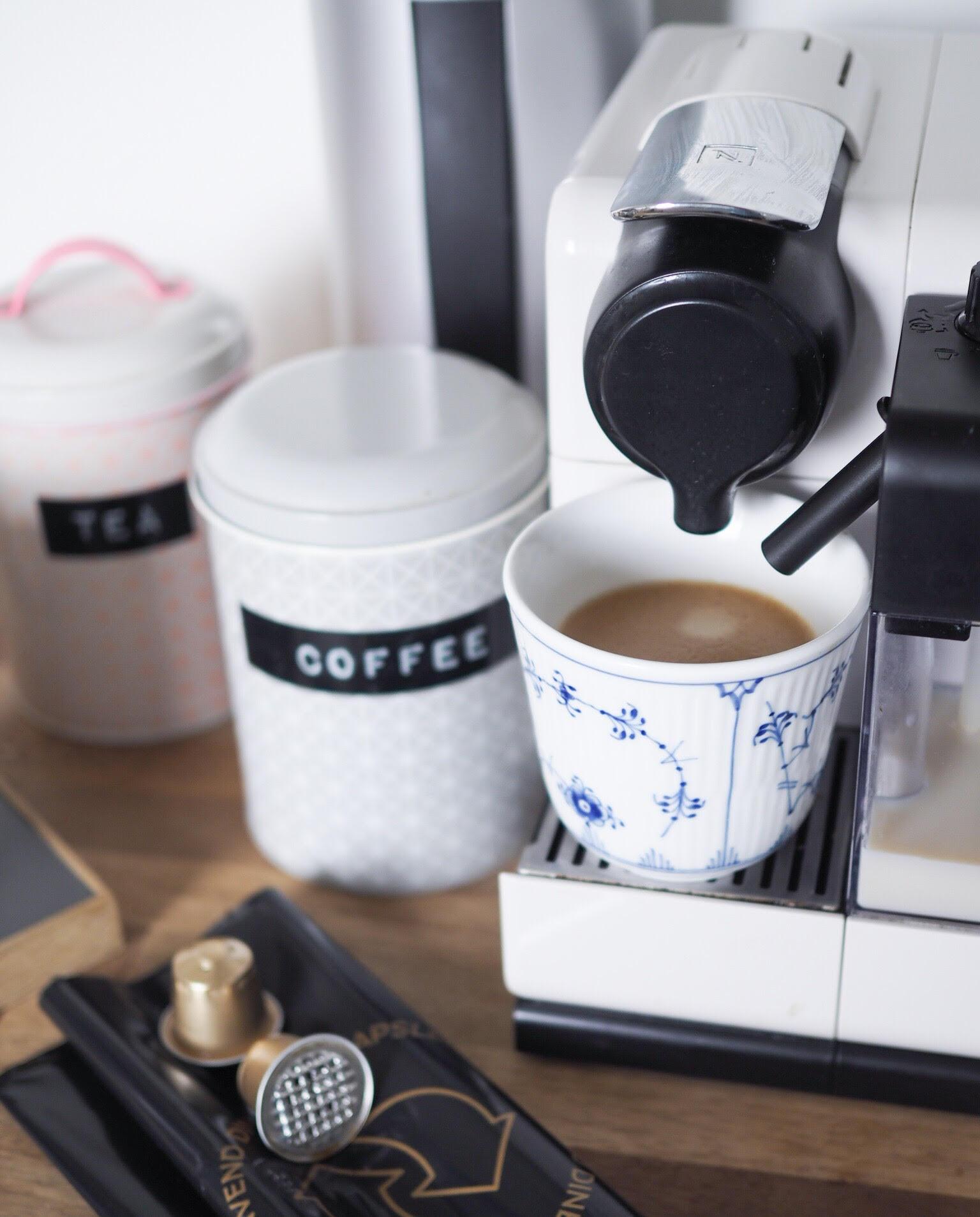Kaffe og piller Grønne kaffekapsler
