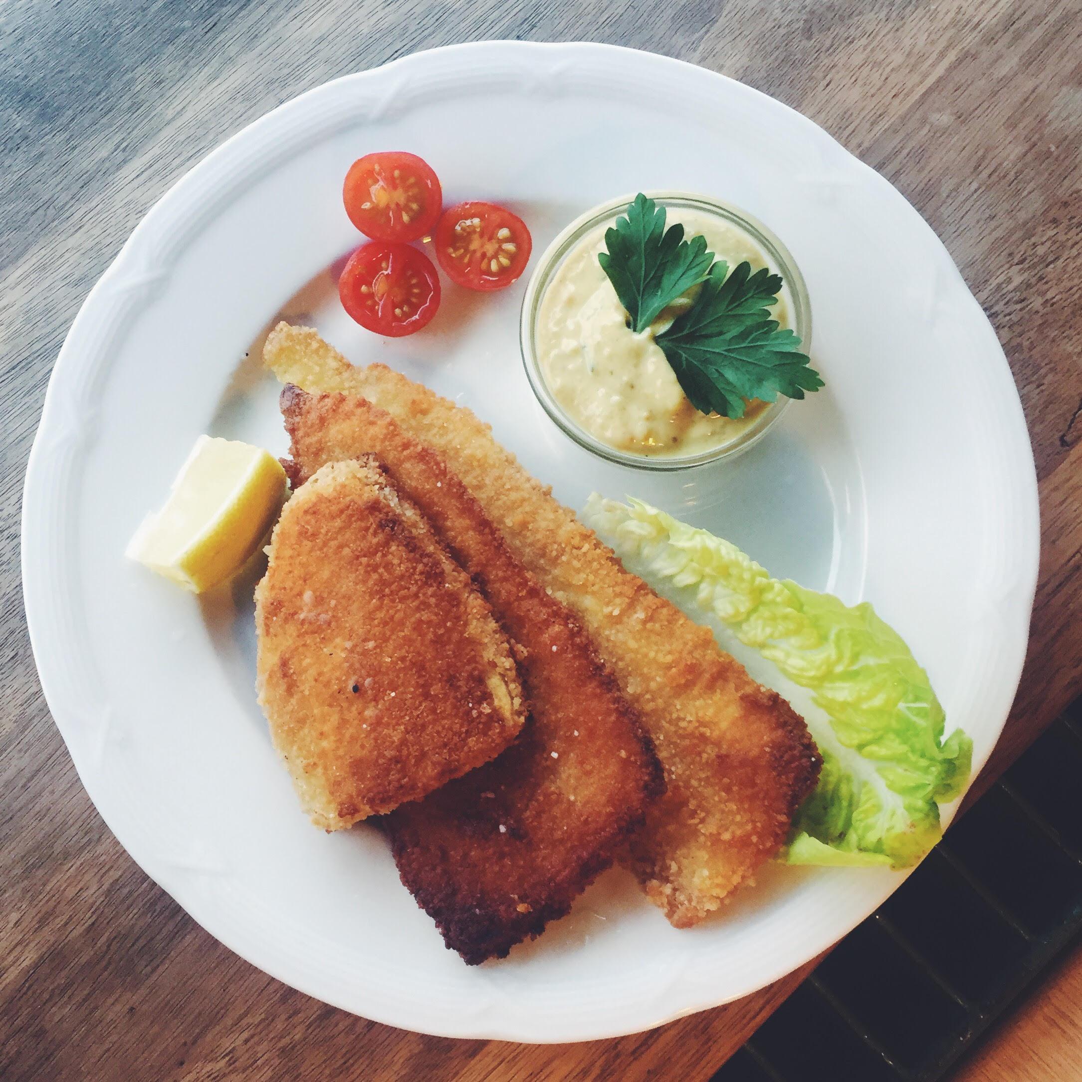 fiskefrilet Frederik VI. Vegansk smørrebrød