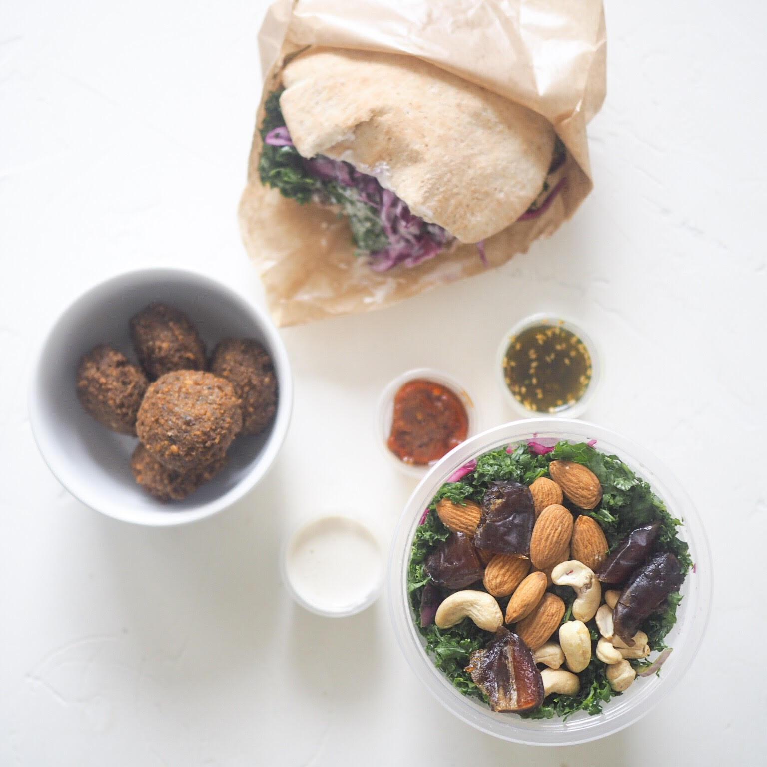 falafal og pita sandwich hos Nordisk Falafel