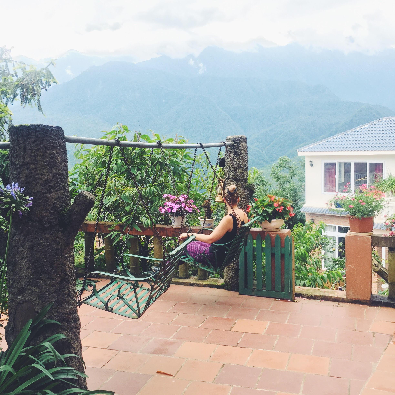 hotel med god udsigt i Sapa trekking i Vietnam