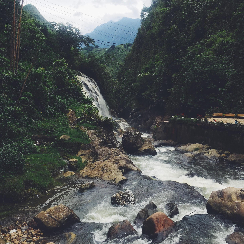 vandfald Sapa i Vietnam
