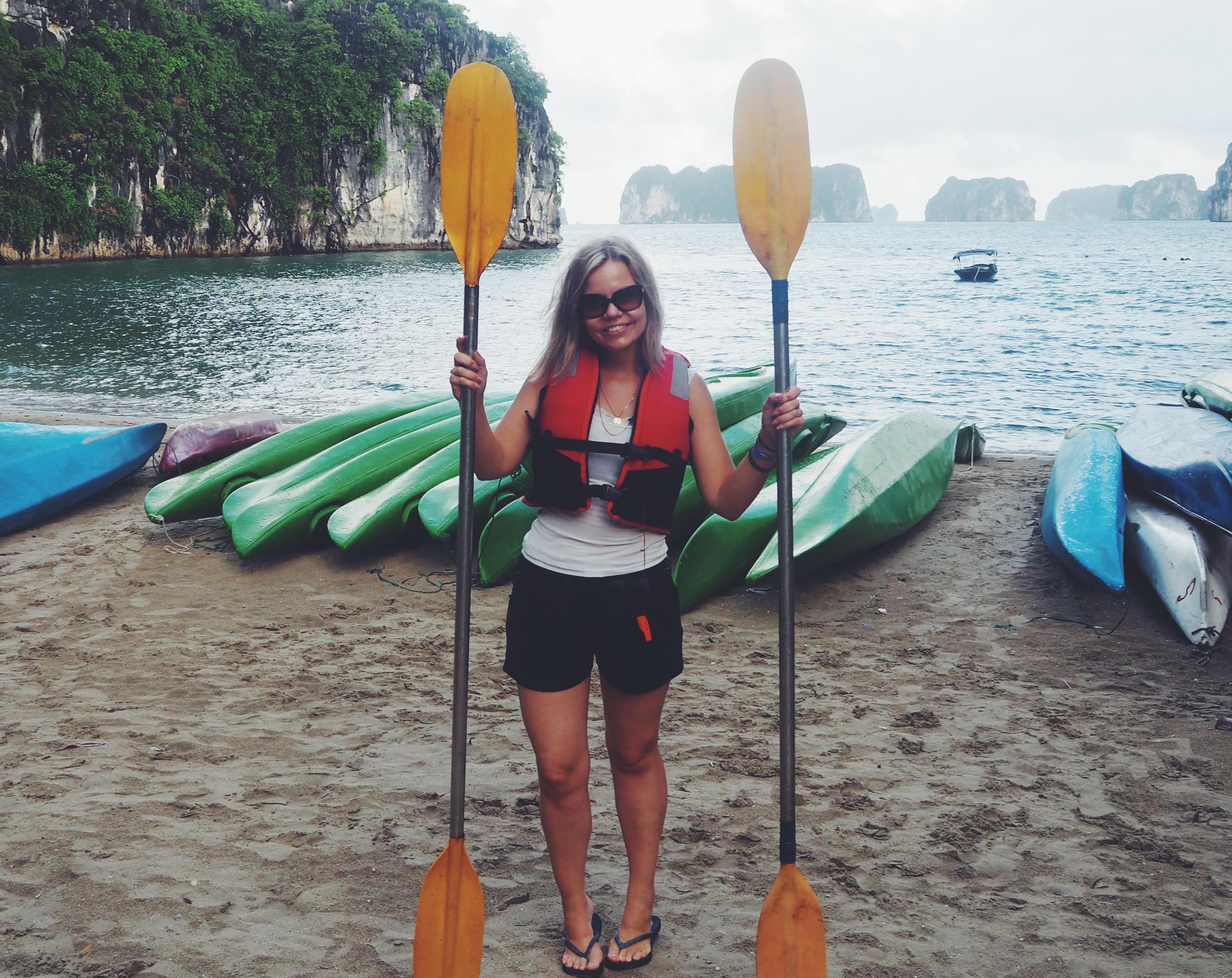 havkajak nybegynder Halong Bay