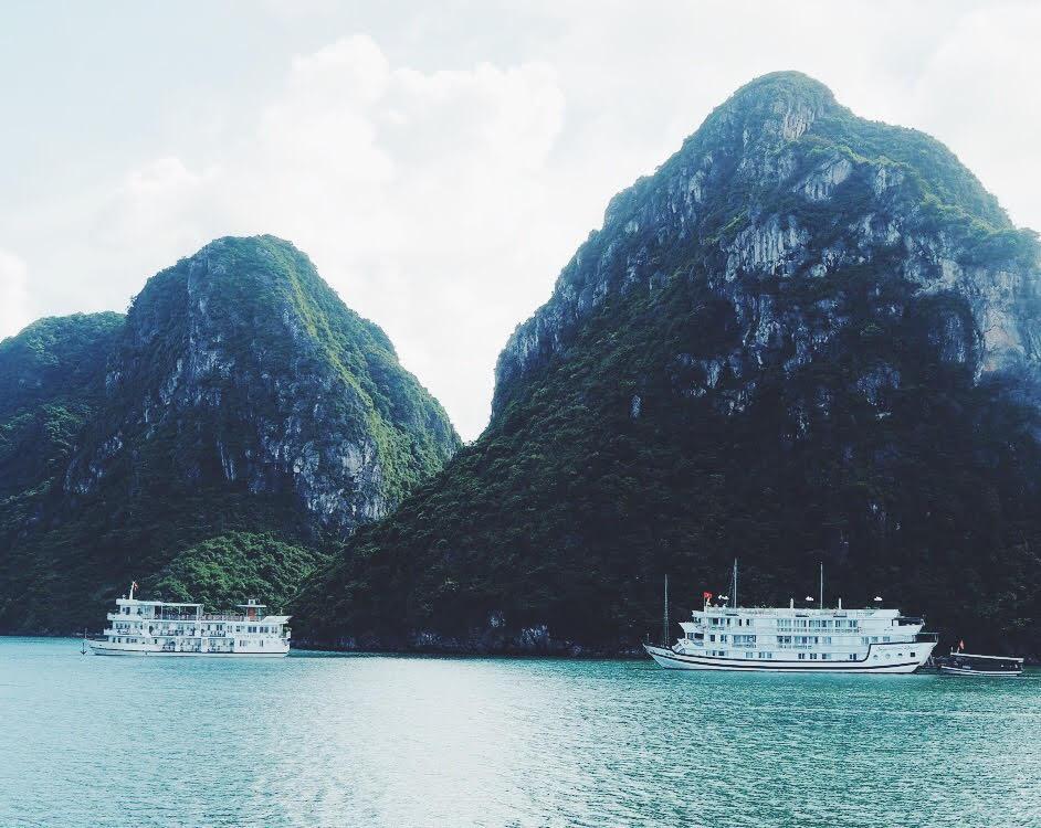 smukke Halong Bay bugt - ren og uden affald