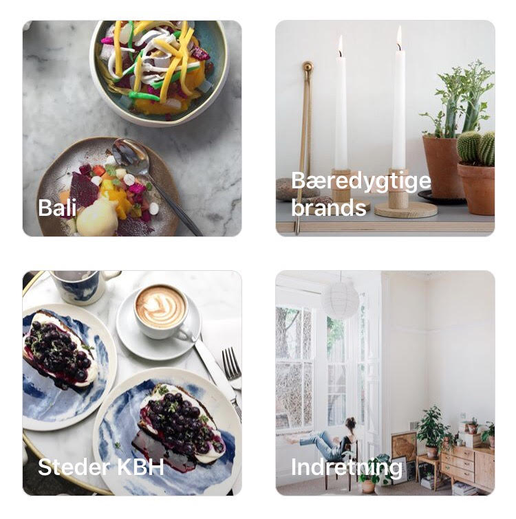 Steder, København, indretning, brands - sådan bruger du bogmærker på Instagram