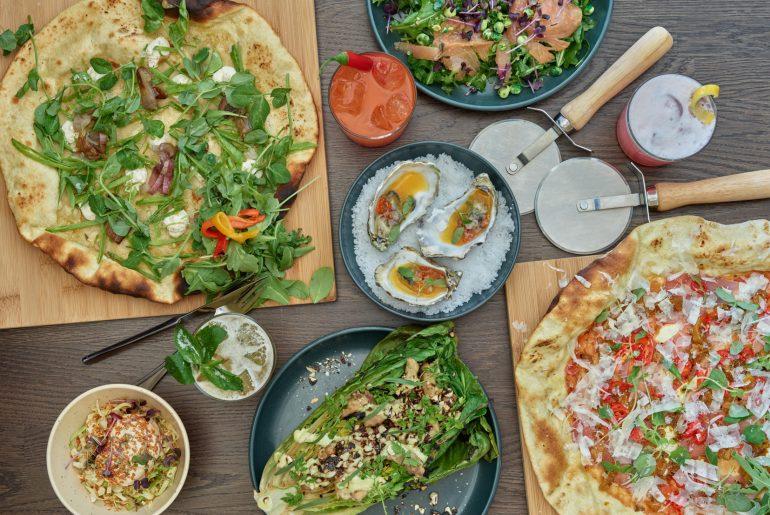 Ny Neighbourhood på Frederiksborggade ved Nørreport. Vegansk pizza, cocktails og forretter