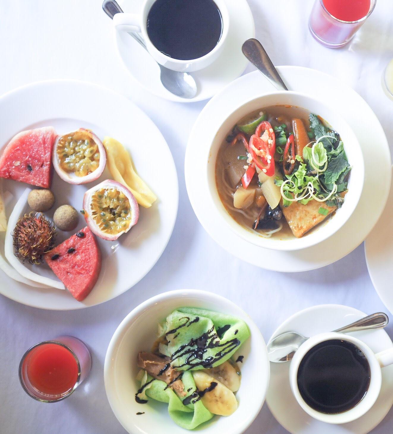 morgenmad på pilgrimage village i Vietnam