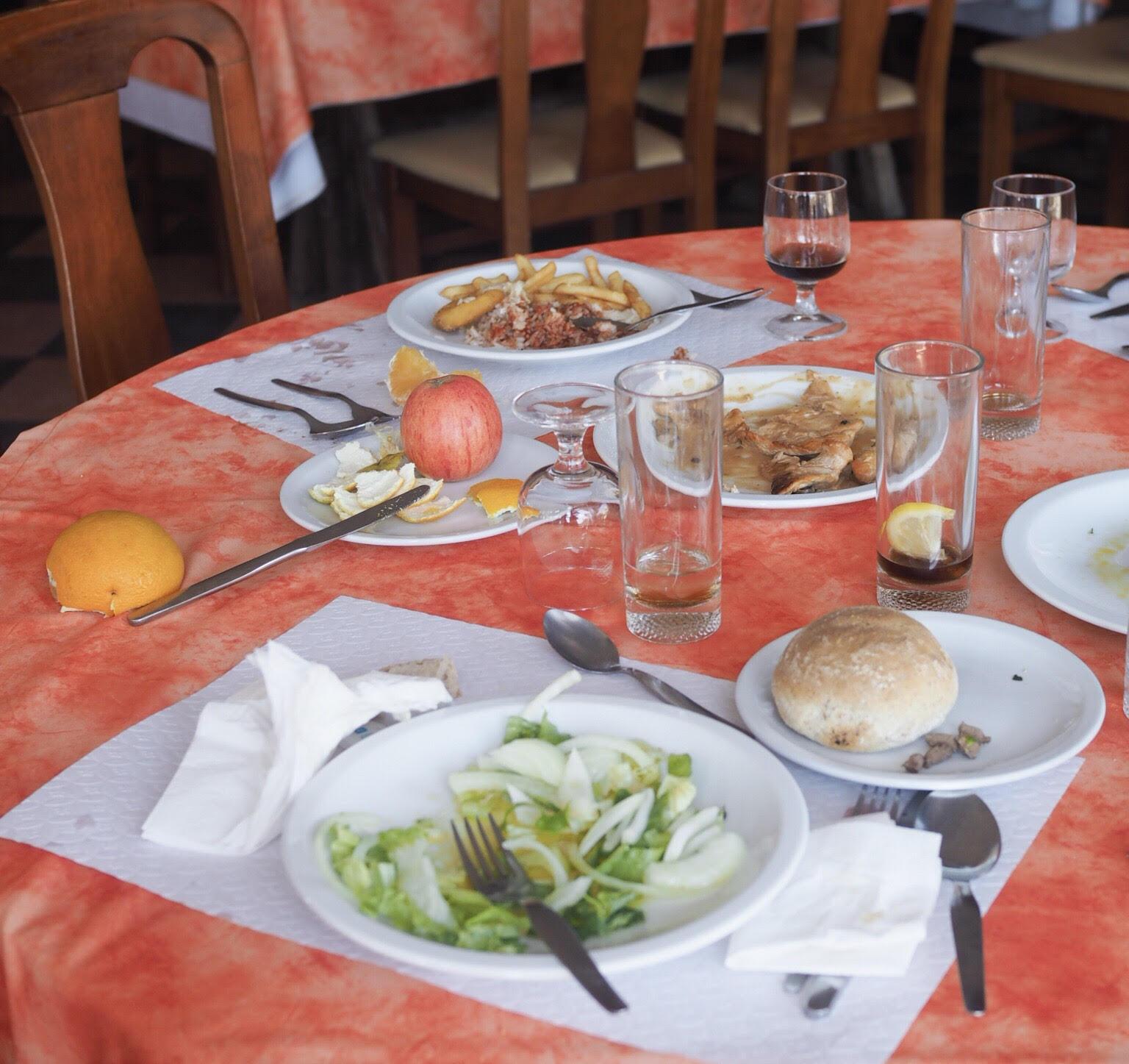 madspild på hotel i Portugal