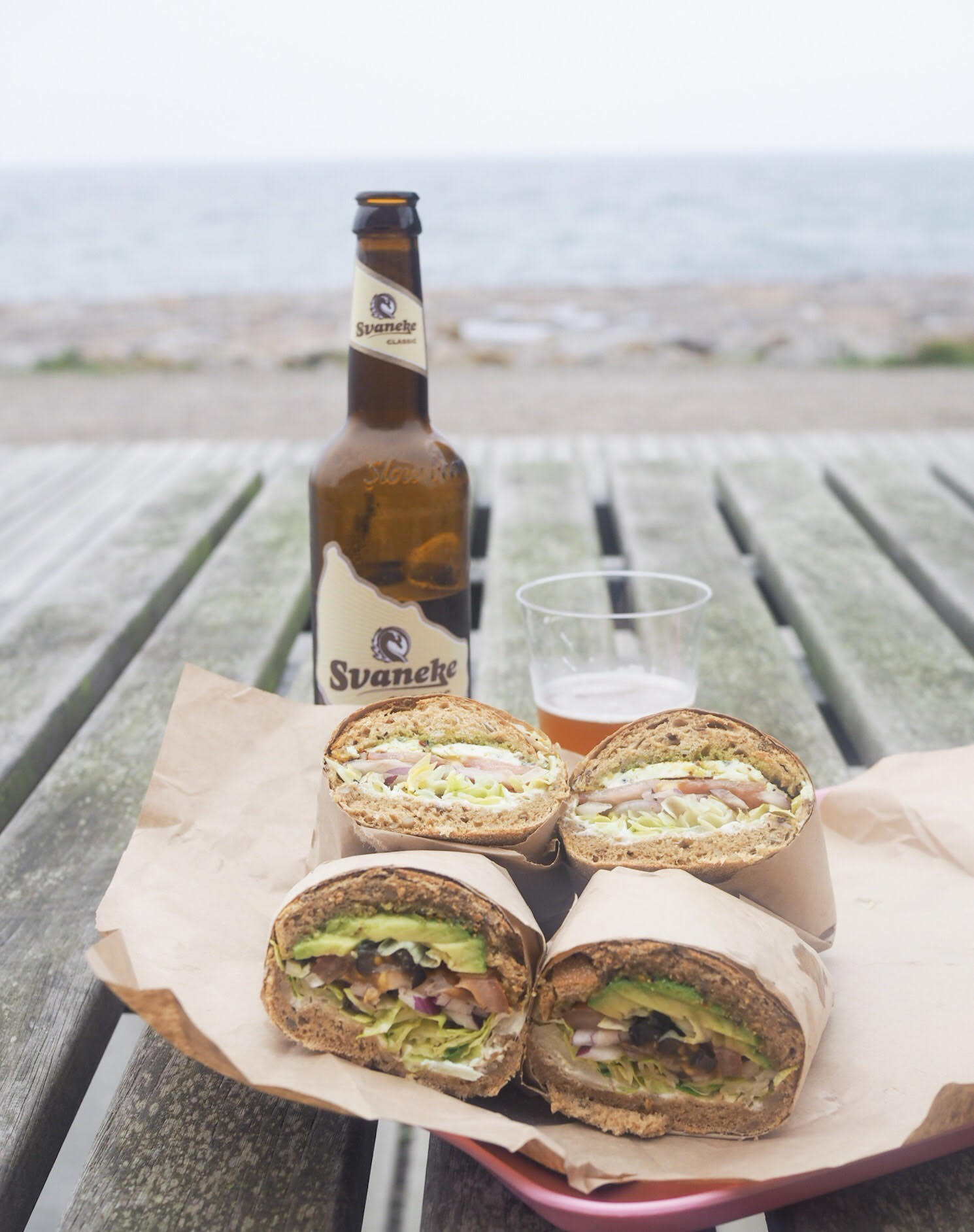Bornholmsk bedste sandwich fra Marie sandwich? Pause på vandreturen ved Hammerhavnen