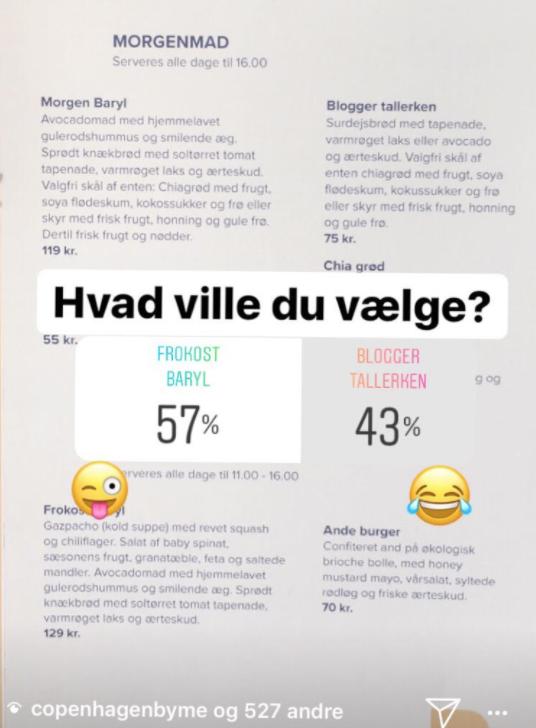 meningsmåling på Instagram; sådan ser du resultater