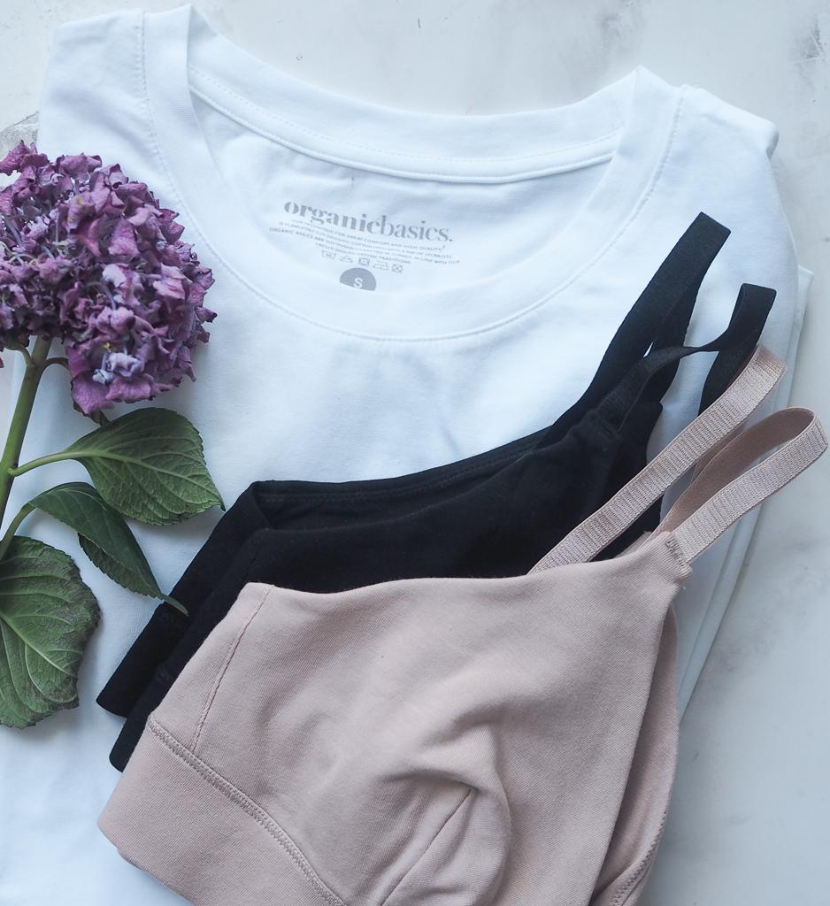 Undertøj og t-shirt af økologisk bomuld fra Organic Basics