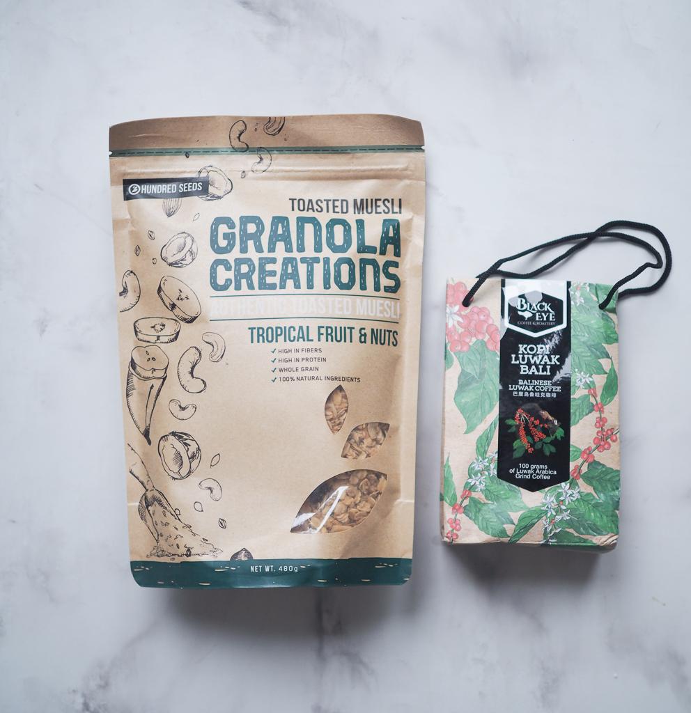 Kaffe og müsli fra Ubud / Bali
