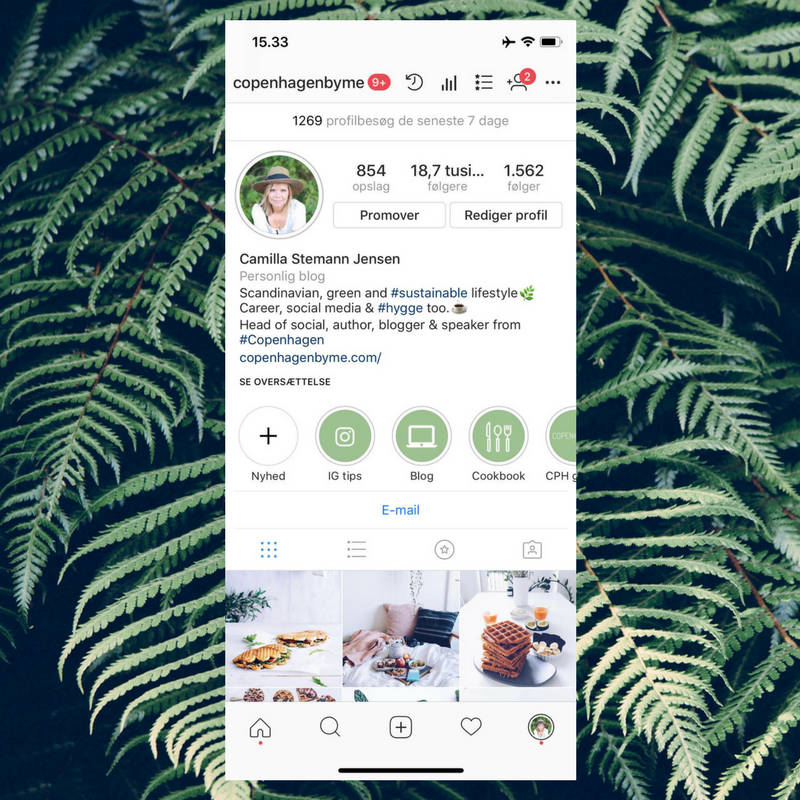 coverbilleder instagram highlights