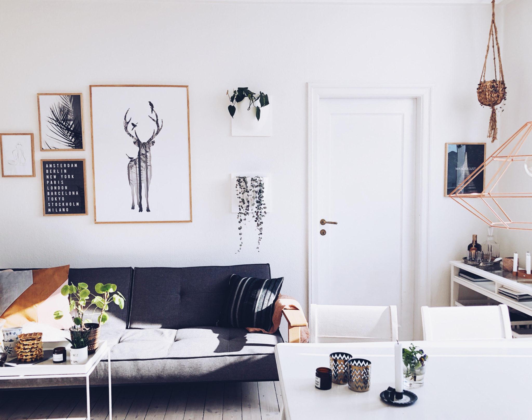 billedvæg på hjemmekontoret fra Desenio