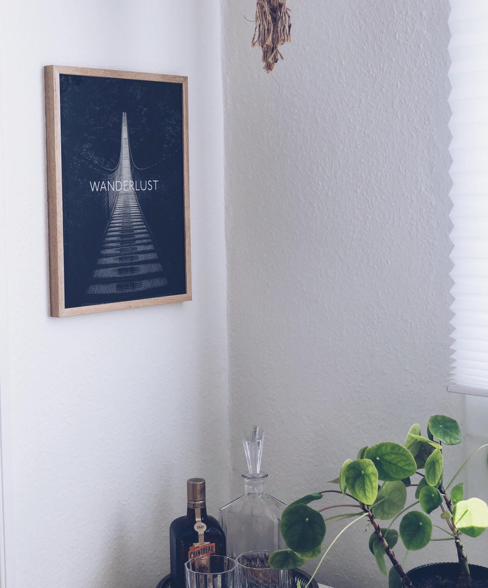 plakater fra Desenio med rejselyst; Wanderlust