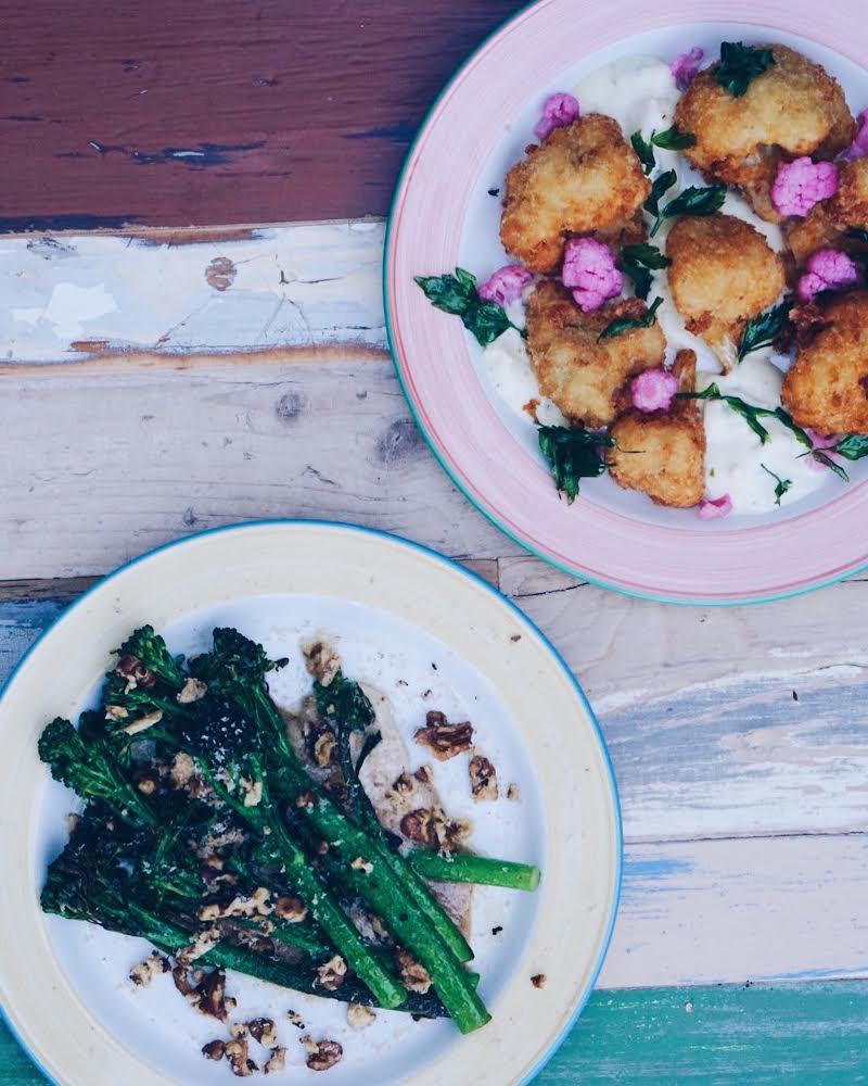 bbq blomkål og broccoli på Mission i The Standard