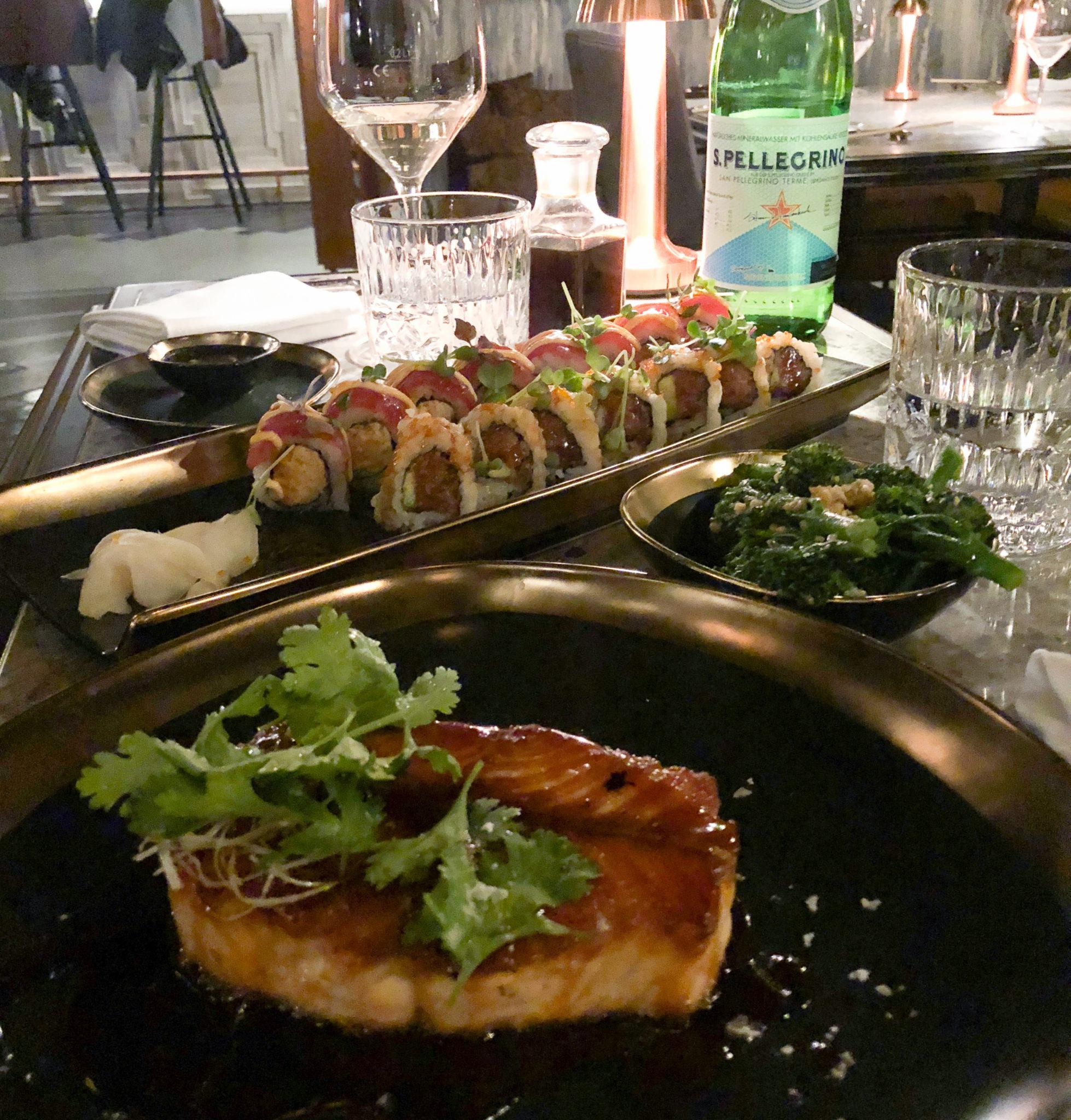 lækker sushi på jin gui på Hotel tortue i hamburg